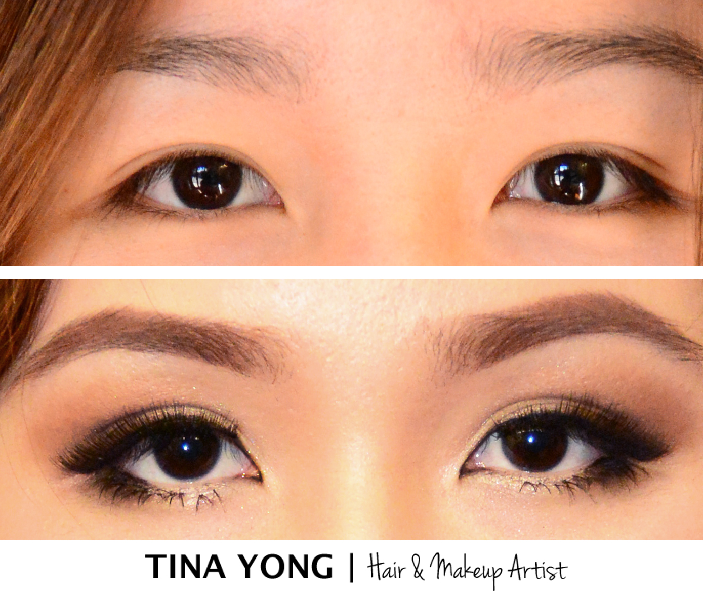 Uneven eyelids tina yong makeup and hair by tina yong beforeaftertemplate baditri Gallery