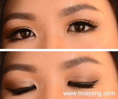 Double eyelid makeup